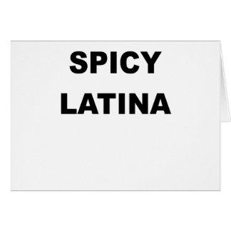 SPICY LATINA.png Greeting Card