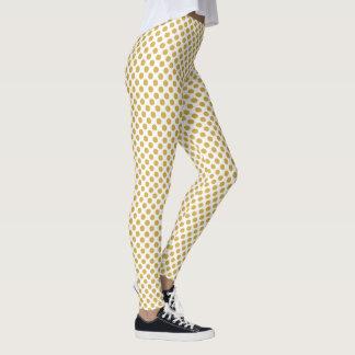 Spicy Mustard Polka Dots Leggings
