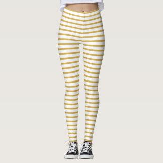 Spicy Mustard Stripes Leggings