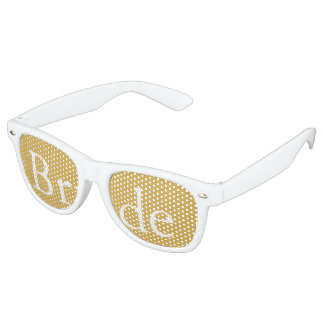 Spicy Mustard with White Wedding Detail Party Sunglasses