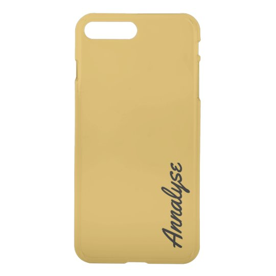 Spicy Mustard Yellow Gold Solid Colour Custom iPhone 7 Plus Case