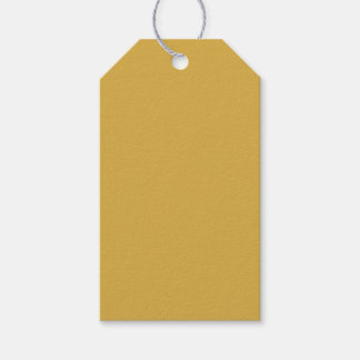Spicy Mustard Yellow Modern Solid Color Pack Of Gift Tags