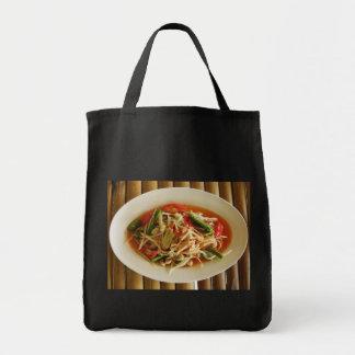 Spicy Papaya Salad [Som Tam] Photo Grocery Tote Bag