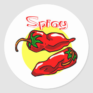 Spicy Peppers Classic Round Sticker