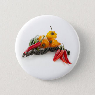 Spicy Peppers on White Pin