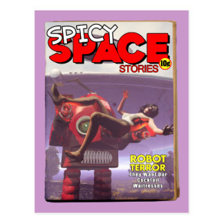Spicy Space Stories Fake Pulp Cover Postcard