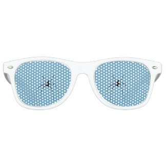 Spider Adult Retro Party Shades, White Party Sunglasses