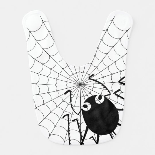 Spider and Web Bibs