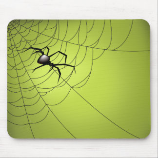 Spider and Web Mouse Pad
