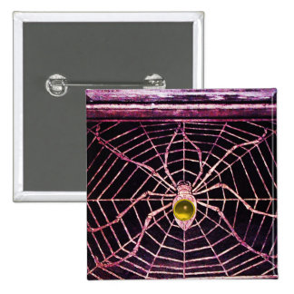 SPIDER AND WEB Yellow Topaz Black Pins