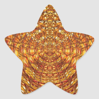 Spider Basket Weave : Attracts n retains energies Star Sticker