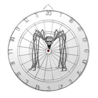 spider . black and white dartboard
