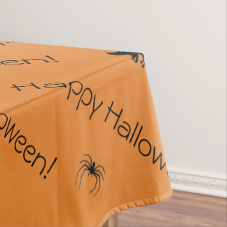 Spider Black Cat Halloween Scary Color Designed Tablecloth