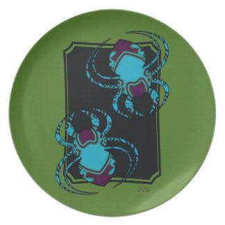Spider BleuTattoo Party Plates