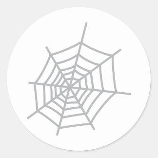 spider cobweb spiderweb classic round sticker