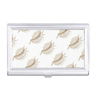 Spider Conch Shell in Pencil Business Card Holder