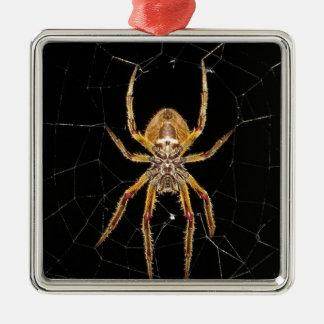 Spider design metal ornament