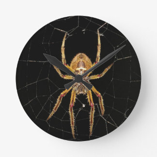 Spider design round clock