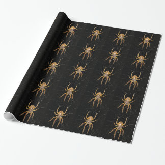 Spider design wrapping paper
