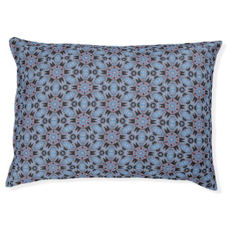 Spider Fangs Blue Gray Pet Bed Large Dog Bed