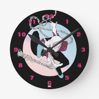 Spider-Gwen Binary Code Round Clock
