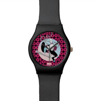 Spider-Gwen Binary Code Watch