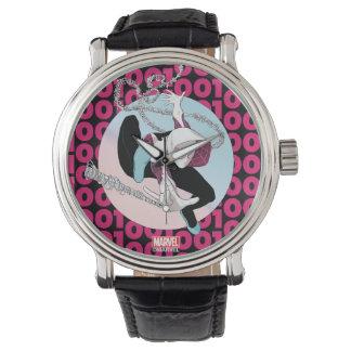 Spider-Gwen Binary Code Wristwatch