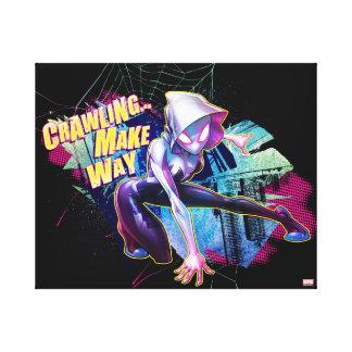 Spider-Gwen: Crawling… Make Way Canvas Print