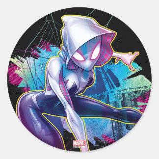 Spider-Gwen: Crawling… Make Way Classic Round Sticker