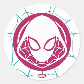 Spider-Gwen Icon Classic Round Sticker