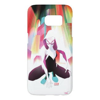 Spider-Gwen Neon City Samsung Galaxy S7 Case