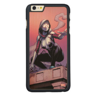 Spider-Gwen On Rooftop Carved Maple iPhone 6 Plus Case