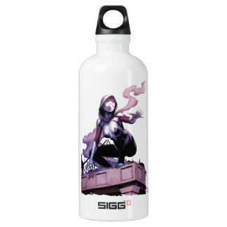 Spider-Gwen On Rooftop Water Bottle