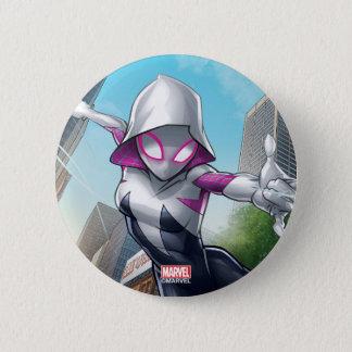 Spider-Gwen Web Slinging Through City 2 Inch Round Button