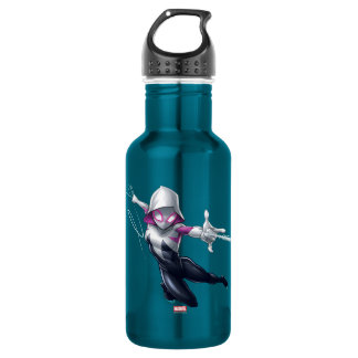 Spider-Gwen Web Slinging Through City 532 Ml Water Bottle