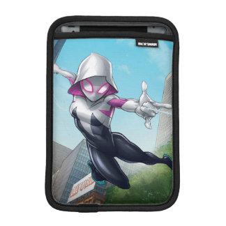 Spider-Gwen Web Slinging Through City iPad Mini Sleeves