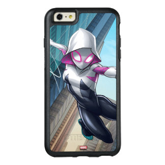 Spider-Gwen Web Slinging Through City OtterBox iPhone 6/6s Plus Case
