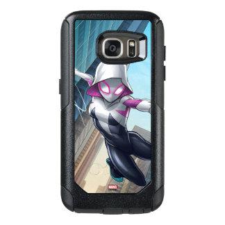 Spider-Gwen Web Slinging Through City OtterBox Samsung Galaxy S7 Case