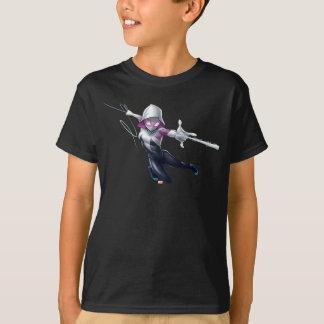 Spider-Gwen Web Slinging Through City T-Shirt
