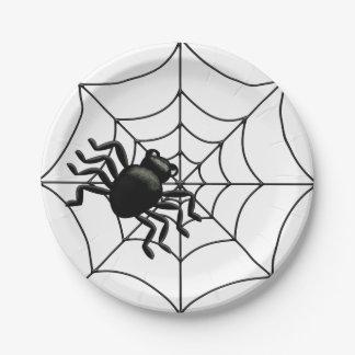Spider Halloween 7 Inch Paper Plate