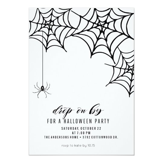SPIDER HALLOWEEN PARTY INVITATION