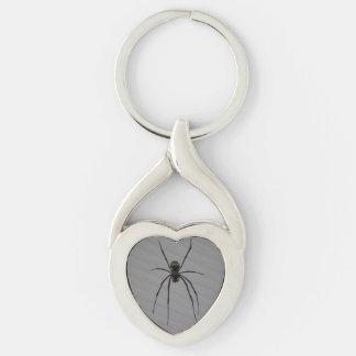 Spider Heart Keychain