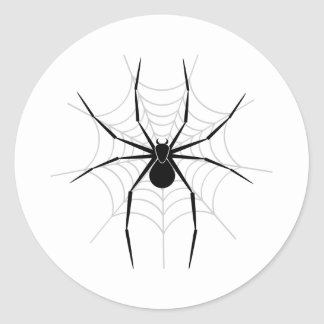 Spider in a Web Classic Round Sticker