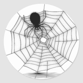 Spider in his Web Classic Round Sticker