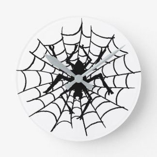 Spider in the Web Wall Clock