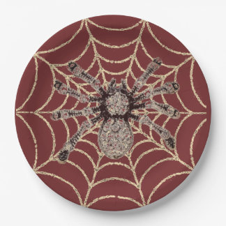 Spider In Web 9 Inch Paper Plate