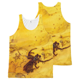Spider inside baltic amber stone All-Over-Print tank top