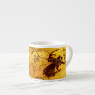 Spider inside baltic amber stone espresso cup