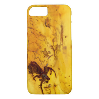 Spider inside baltic amber stone iPhone 8/7 case