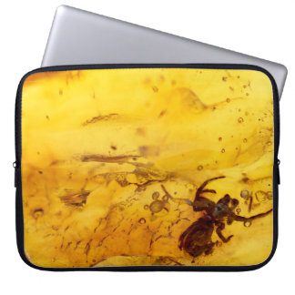Spider inside baltic amber stone laptop sleeve